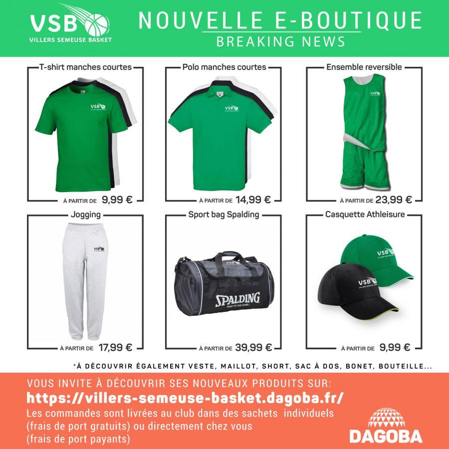 31a06f065e24 Le VSB à ouvert une e-boutique par l'intermédiaire du site dagoba. Cette  boutique aux couleurs du club, propose un large choix de produits  personnalisable, ...